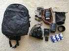 Nikon DX D5100 162MP DSLR Camera w 18 55mm and 55 200mm lenses and more