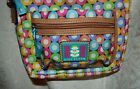 Lily Bloom Smll Crossbody Handbag Colorful Circles Adj Strap Recycled Polyester