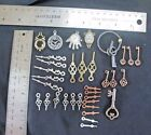 35 Mixed Metal Lot of Charms Pendants Steampunk Keys Clocks Time Jewelry Crafts