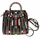 Genuine ALEXANDER MCQUEEN mini Black And Red HEROINE Stripped Bag RRP 1345