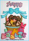 HAPPY EASTER BASKET paper piecing set for Premade Scrapbook Pages by Rhonda