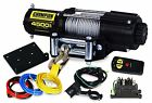 Winch Kit Wireless Electric Gear Towing 1.6HP 4500Lb 12V Cable Dynamic Braking