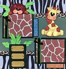 ANIMAL KINGDOM 2 premade scrapbook pages paper piecing layout zoo disney CHERRY