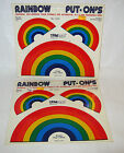 Vintage 1970s Lot of 2 Sheets Retro RAINBOW ADHESIVE STICKERS Bumper Crafts