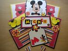 Disney Mickey Mouse Scrapbook Page Mat Set SEWN Premade Embossed