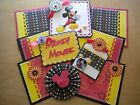 Disney Scrapbook Page Mat Set SEWN Premade Embossed Mickey Mouse