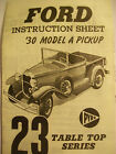 PYRO TABLE TOP CLASSICS # 23 * 1930 FORD MODEL A PICKUP * MODEL KIT - 1967