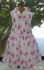 Beautiful Pumpkin patch baby girl dress with print Flamingos in size 2T