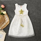 Flower Girl Summer Princess Star Dress Toddler Bridesmaid Party Weeding Dresses