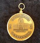 Bicentennial Kankakee County Courthouse Celebration 1776 - 1976 Brass Coin bezel