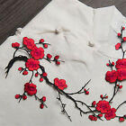 Blossom Flower Applique Clothing Embroidery Patch Sticker Iron On Sew Cloth DIY