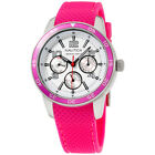 Nautica White Dial Pink Silicone Strap Ladies Watch N15634M
