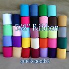 34 yards 5 8 Wholesale Solid Grosgrain Ribbon Supplies Lot USA Free Shipping