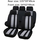 Car Seat Covers Blackblueredgray Polyester Cloth Frontrear Bench Full Set Mg