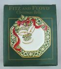 Fitz And Floyd Christmas Bells Canape Plate Holiday Wall Decor FF Porcelain