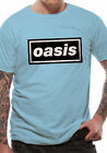 Oasis T Shirt Band Logo Definitely Maybe Official Licensed Blue Mens Rock Merch