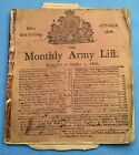 RARE ORIGINAL PRINTED NAPOLEONIC BRITISH ARMY LIST FOR 1806