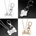 Best Friend Forever BFF Dog Bone Tag Pendants Collar Necklace Key Chain