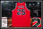 STEVE KERR autographed signed CHICAGO BULLS red jersey coa w 3 Peat 96-98