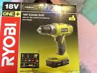 Ryobi 18v combi drill with 2 x 1.3ah lithium batteries and charger