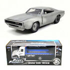 Fast  Furious Diecast Package Flat Bed Tow Truck w 1968 Doms Dodge Charger R T