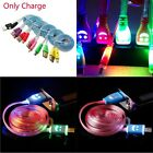 Light up Visible Smile Face LED Charger Cable For Android Phones Micro USB