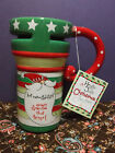 Santa Clause Mug Be Naughty Save Santa the Trip Joyce Shelton 14oz