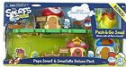 The Smurfs Micro Village Papa Smurf & Smurfette Delux Pack