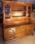 Carleton Rock Maple Sideboard Buffet Hutch Server Cabinet Cupboard