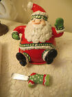 FITZ AND FLOYD STOCKING STUFFERS SANTA CLAUSE COVERED DISH AND SPREADER NEW