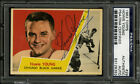1963-64 1963 TOPPS HOCKEY #29 HOWIE YOUNG PSA DNA AUTOGRAPHED ROOKIE CARD
