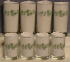Corelle Callaway Ivy water and juice glasses 4 each  excellent!!