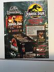 1993 DATA EAST JURASSIC PARK PINBALL PROMOTIONAL FLYER IN PLASTIC COVER