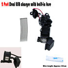 2 Port Dual USB Charger Power Socket Fit Victory BMW Touring Cruiser Sports Bike