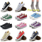 Men Women Sneakers Low Top Casual Canvas Chuck Taylor Athletic Shoes+Socks