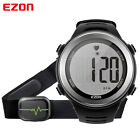 EZON Heart Rate Monitor Watch WR Digital Sports Running Watches With Chest Strap