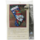 Dimensions Sweet Santa Stocking Needlepoint Kit 16 Long Stitched In Floss