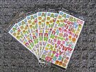 Lot of 6 New Alphabet Stickers Scrapbooking Sticko 86 Pieces ABCs 123s