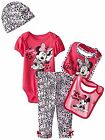 Disney Baby Girls Minnie Mouse 5 Piece Gift Box Set Purple Fusia 0 6 Months