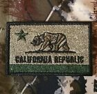 CALIFORNIA REPUBLIC STATE FLAG USA POLICE FOREST VELCRO BRAND FASTENER PATCH