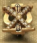 1899 Chi Psi Fraternity Pin Foster Gilbert Morss Rare Style