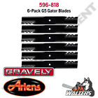 6 Gator Blades 596 818 for Gravely ZTXL  Ariens Zoom 54