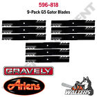 9 Gator Blades 596 818 for Gravely ZTXL  Ariens Zoom 54