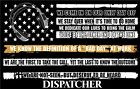 Thin Gold Line Dispatcher Tattered Flag Window Decal - Various Sizes Free Ship