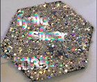 Holo Silver Glitter 035 Flake Fairy Dust 3g Nail Craft Solvent Resistant Card