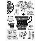 Stampers Anonymous POL74 Darcies Clear Stamp 4X55 Cup Of Tea