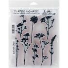 Stampers Anonymous CMS 253 Tim Holtz Cling Stamps 7X85 Wildflowers