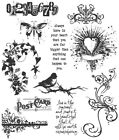 Stampers Anonymous Tim Holtz Cling Stamps 7X85 Urban Chic