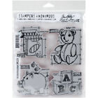 Stampers Anonymous Tim Holtz Cling Stamps 7X85 Childhood Blueprint