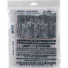 Stampers Anonymous Tim Holtz Cling Stamps 7X85 Newsprint  Type